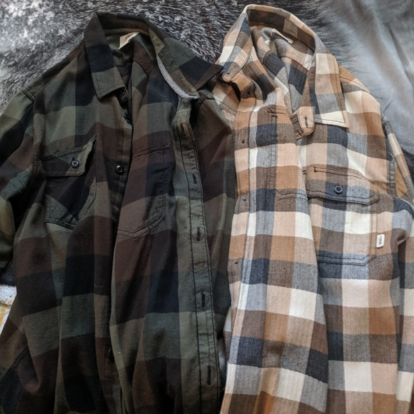 Vans Other - Lot of 2 Vans Men's Large button up flannel shirts